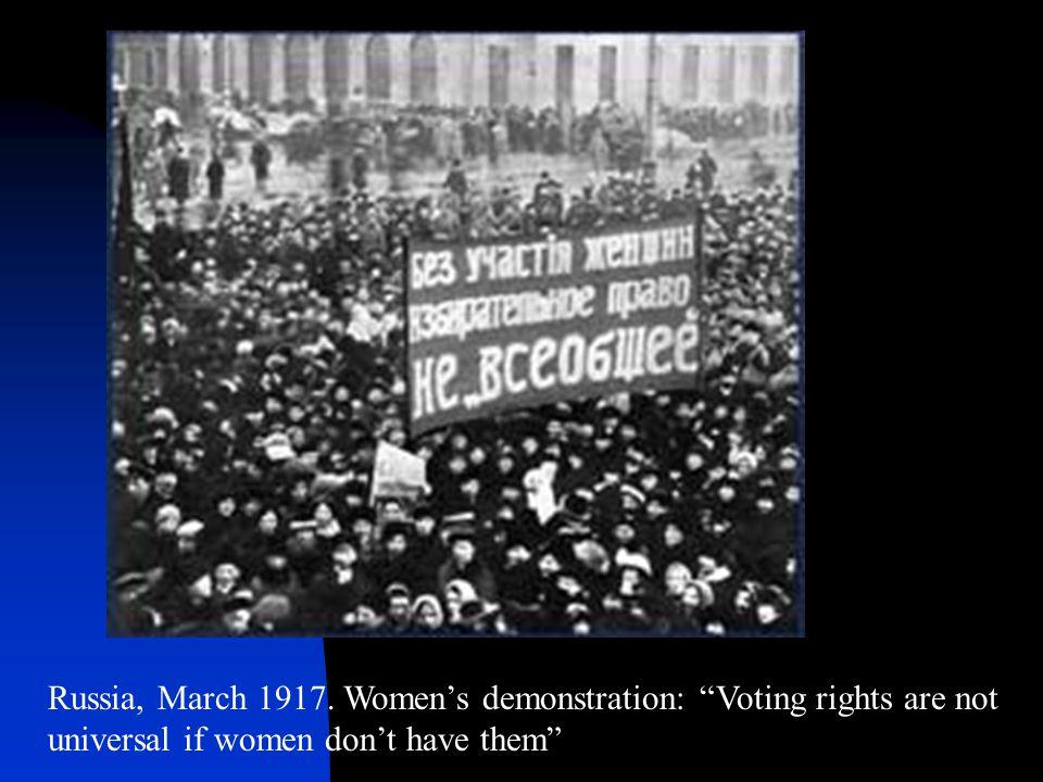 Russia, March 1917.