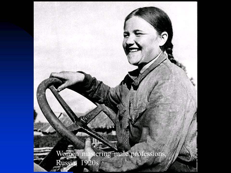 Women mastering male professions, Russia, 1920s