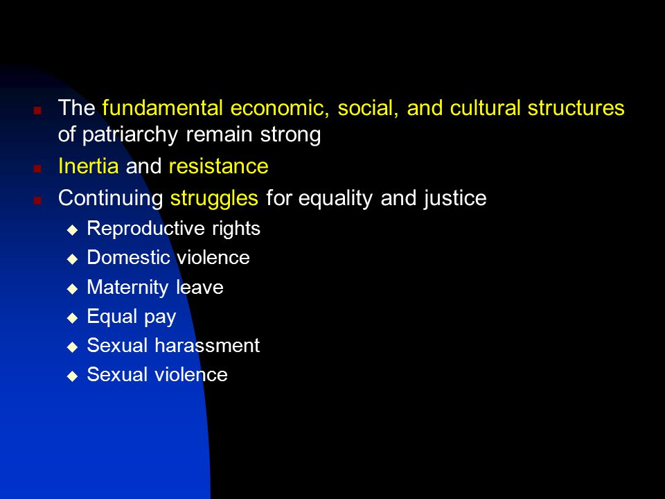 Inertia and resistance Continuing struggles for equality and justice