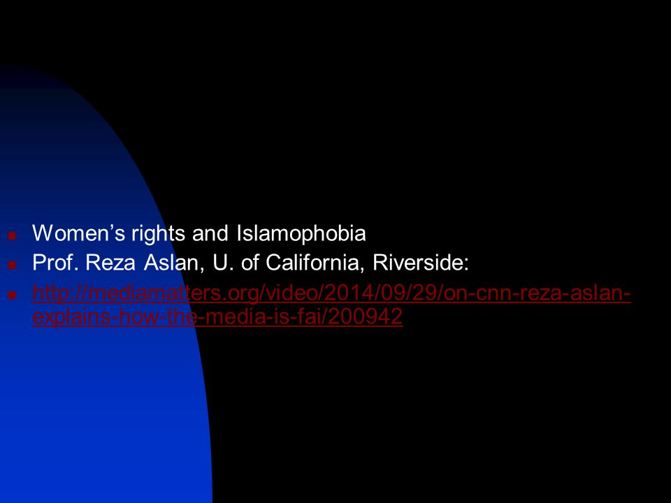 Women's rights and Islamophobia