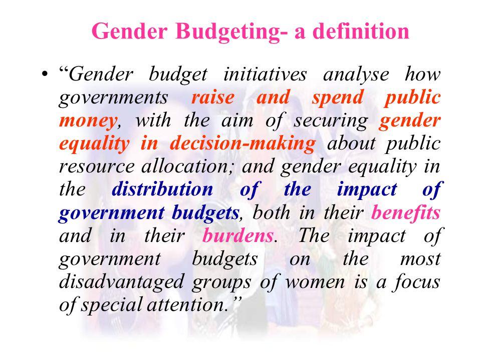 Gender Budgeting- a definition