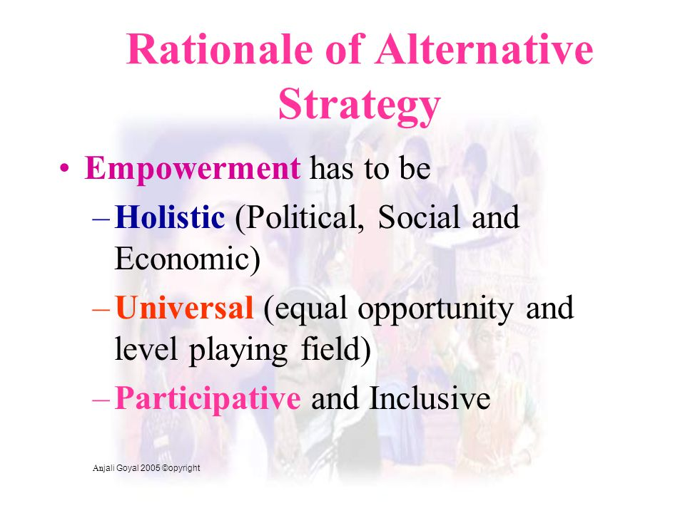 Rationale of Alternative Strategy