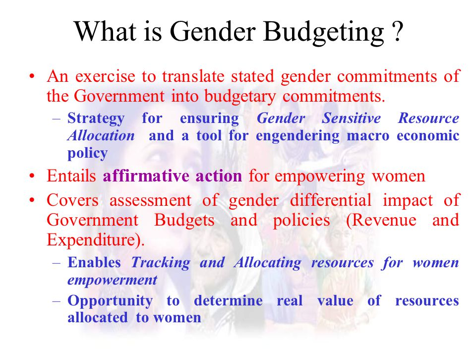 What is Gender Budgeting