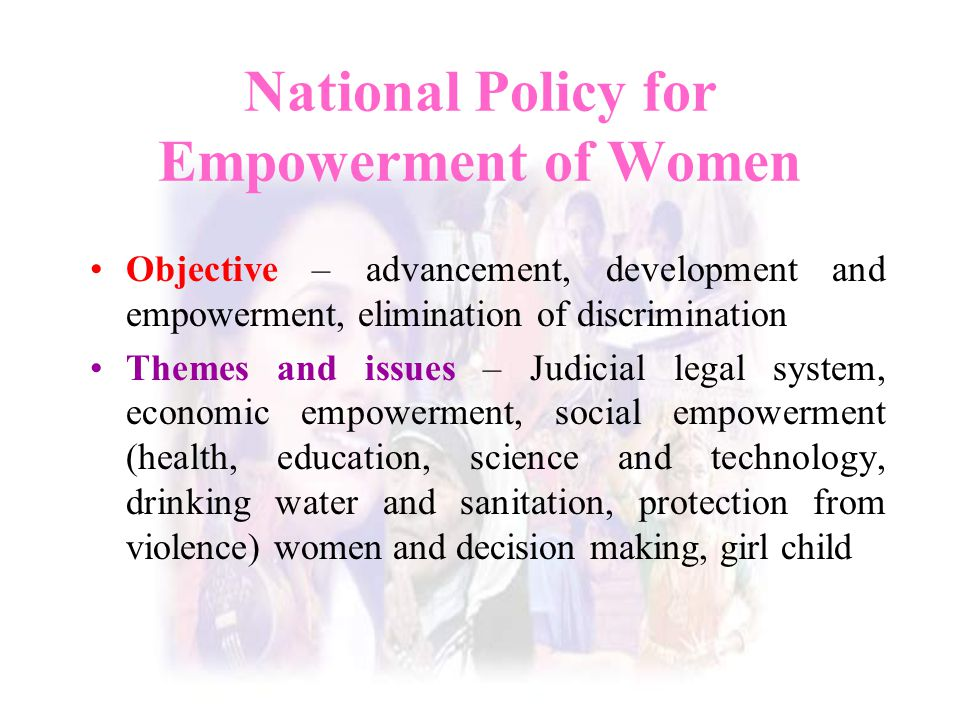 National Policy for Empowerment of Women