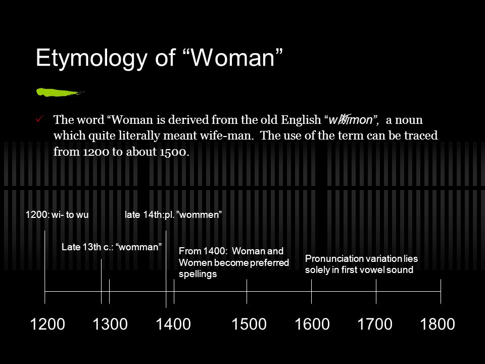 Etymology of Woman