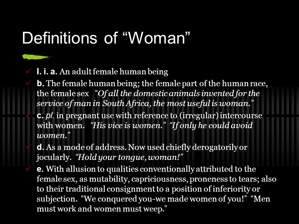 Definitions of Woman