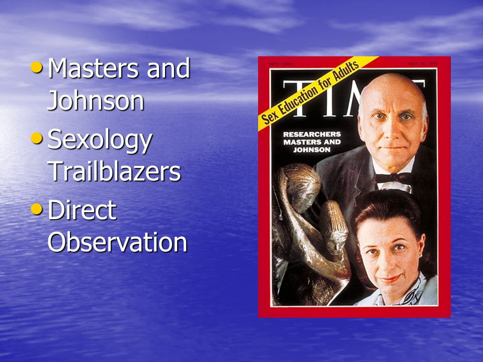 Masters and Johnson Sexology Trailblazers Direct Observation