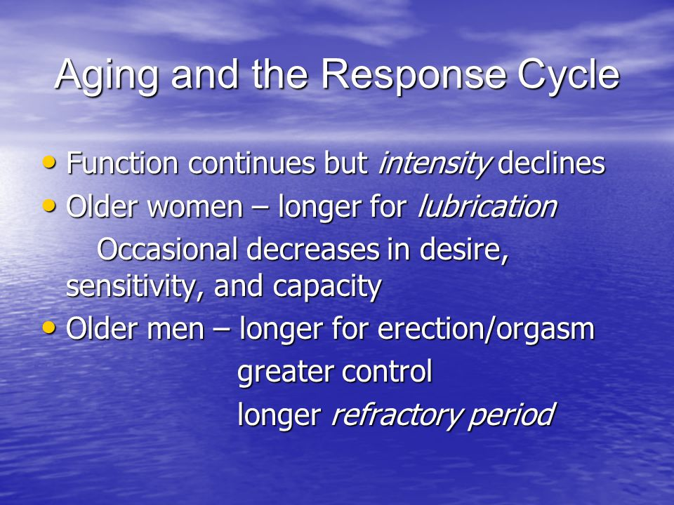 Aging and the Response Cycle
