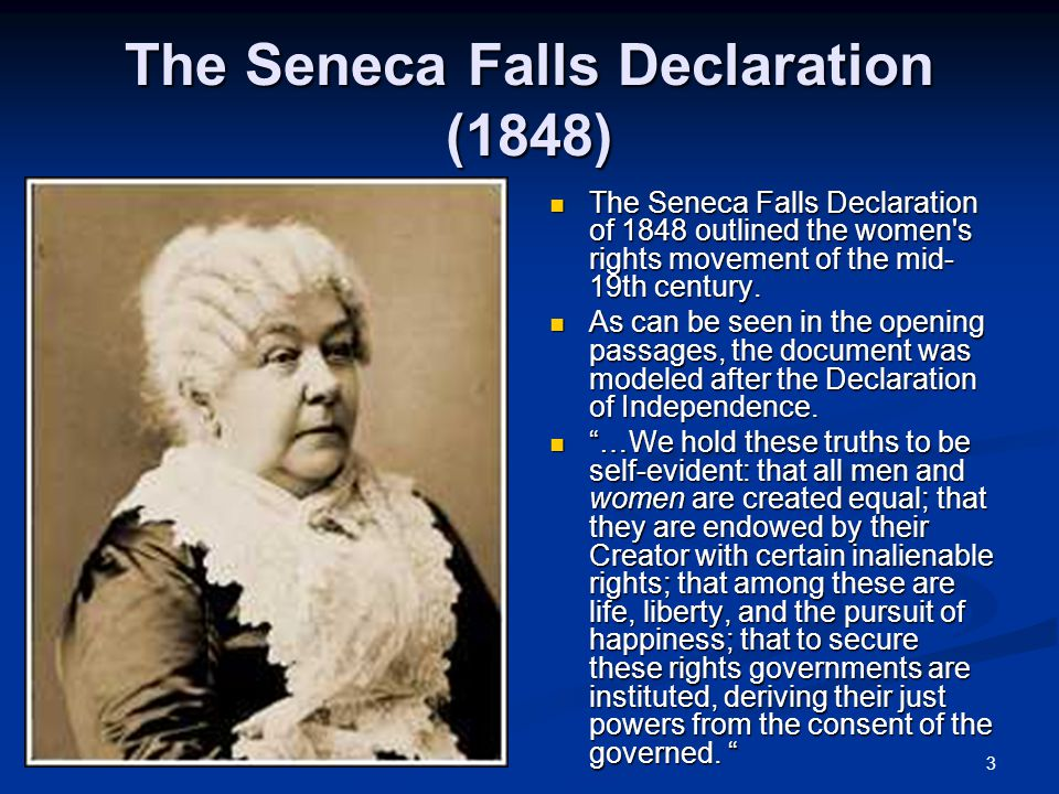 The Seneca Falls Declaration (1848)
