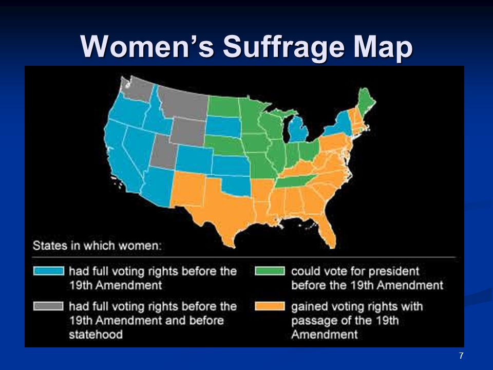 Women's Suffrage Map