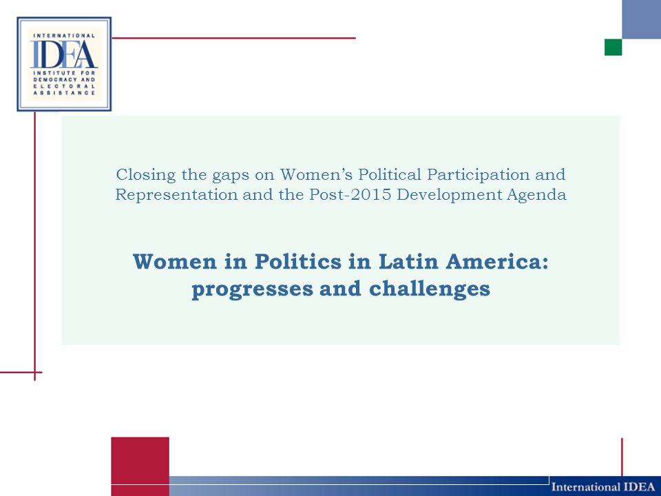 Women in Politics in Latin America: progresses and challenges