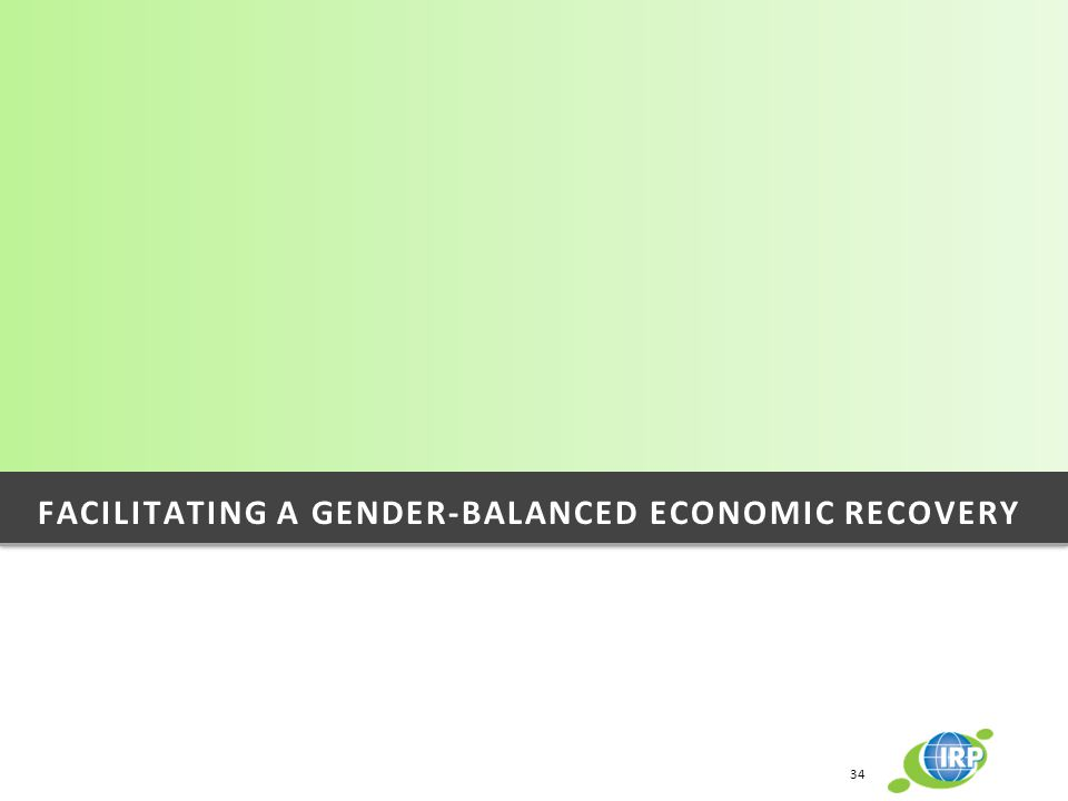 Facilitating a gender-balanced economic recovery