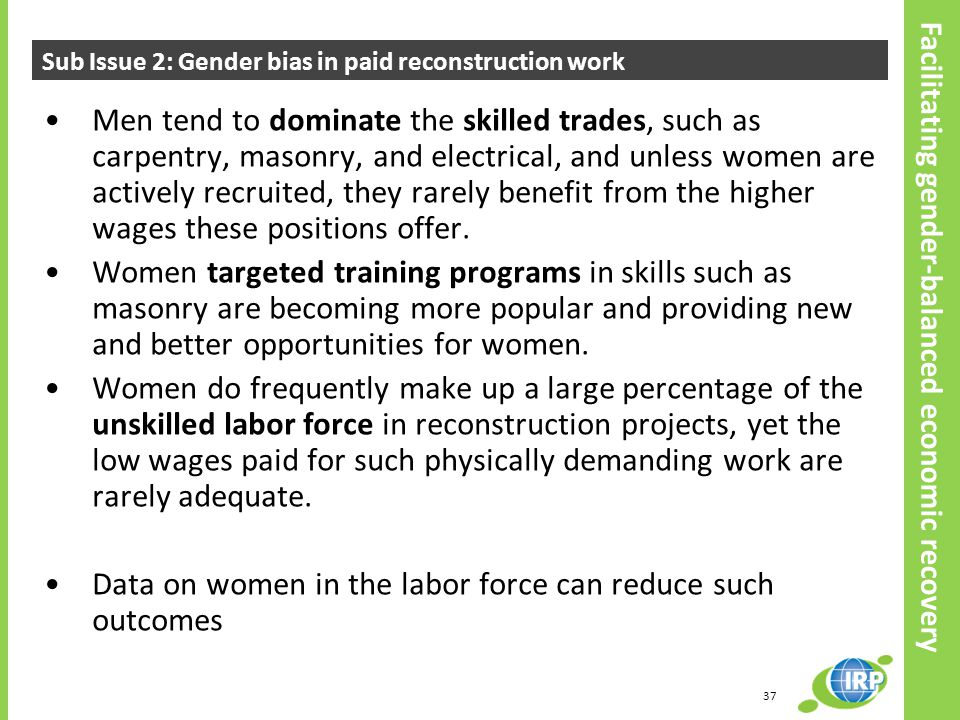 Data on women in the labor force can reduce such outcomes
