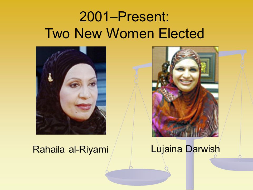 2001–Present: Two New Women Elected