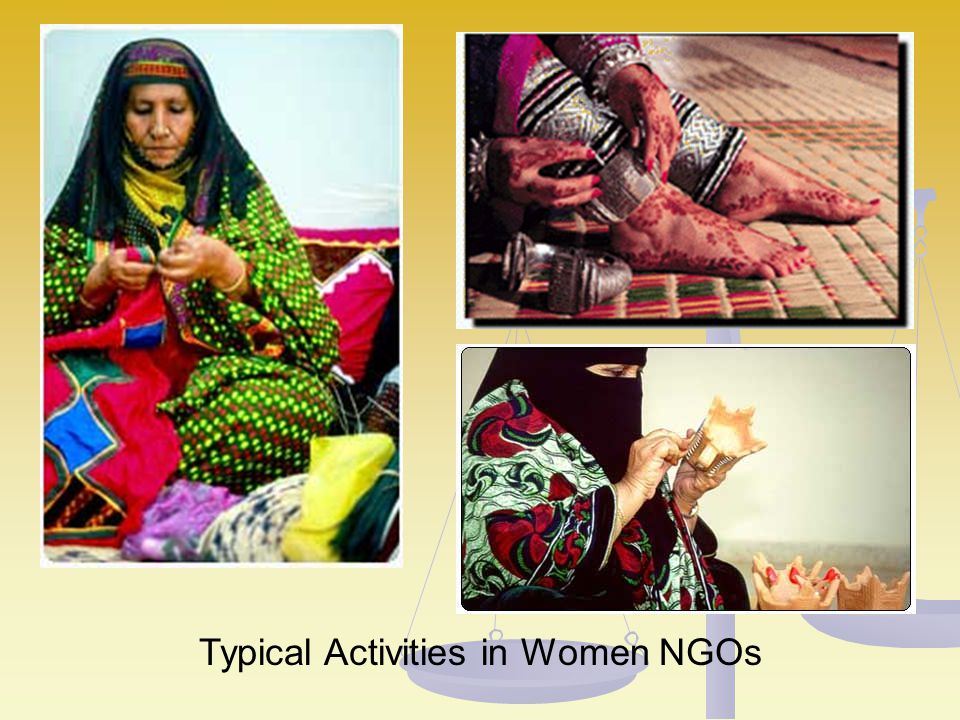 Typical Activities in Women NGOs