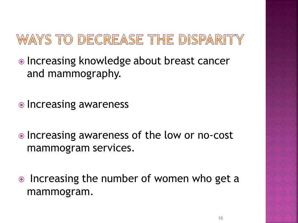 Ways to decrease the disparity