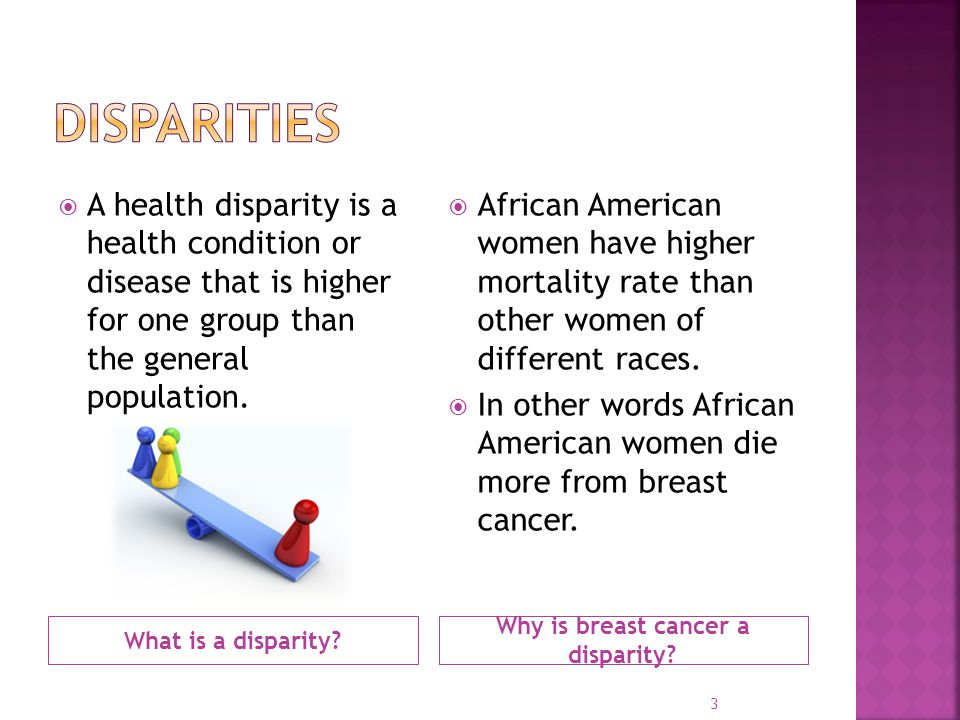 Why is breast cancer a disparity