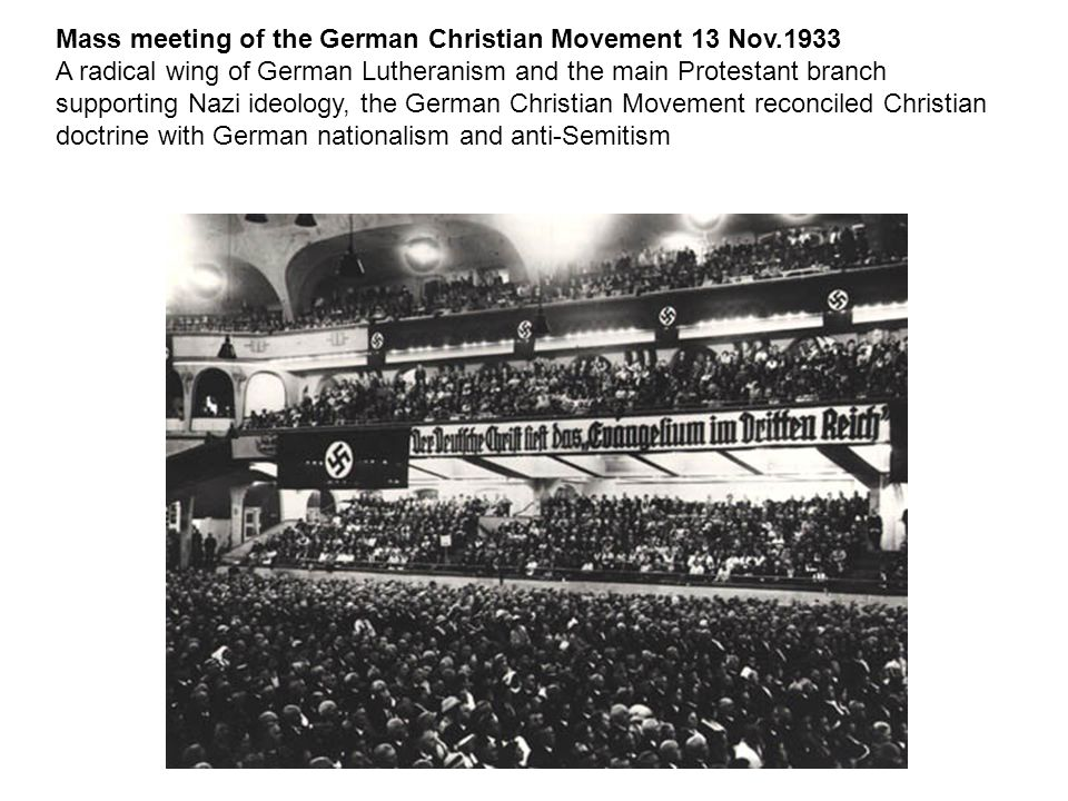 Mass meeting of the German Christian Movement 13 Nov.1933