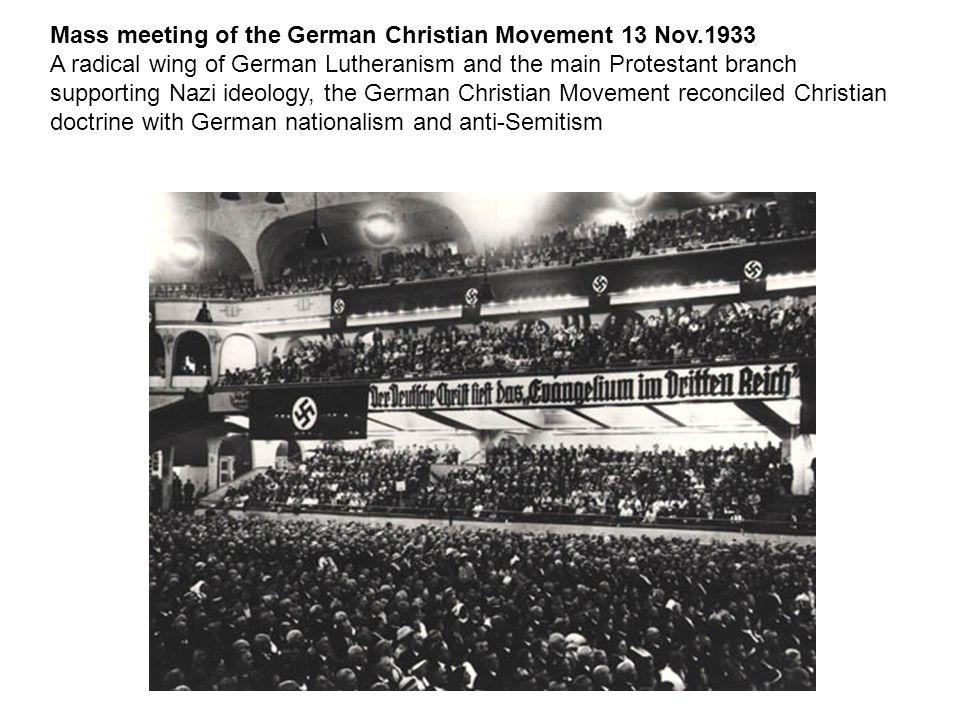 Mass meeting of the German Christian Movement 13 Nov.1933