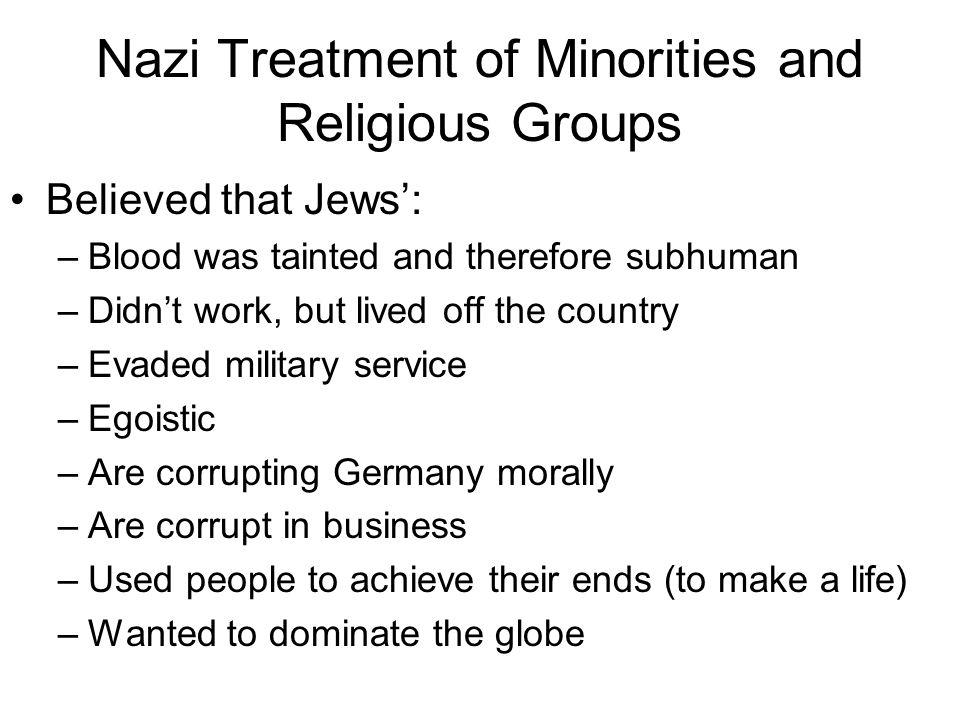 Nazi Treatment of Minorities and Religious Groups