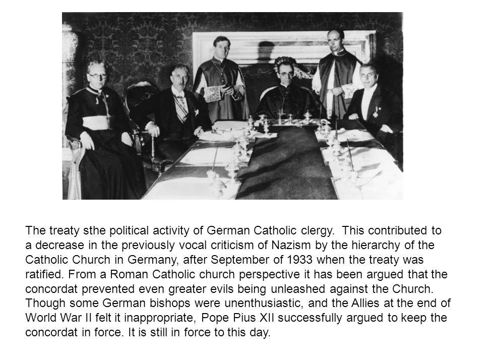 The treaty sthe political activity of German Catholic clergy