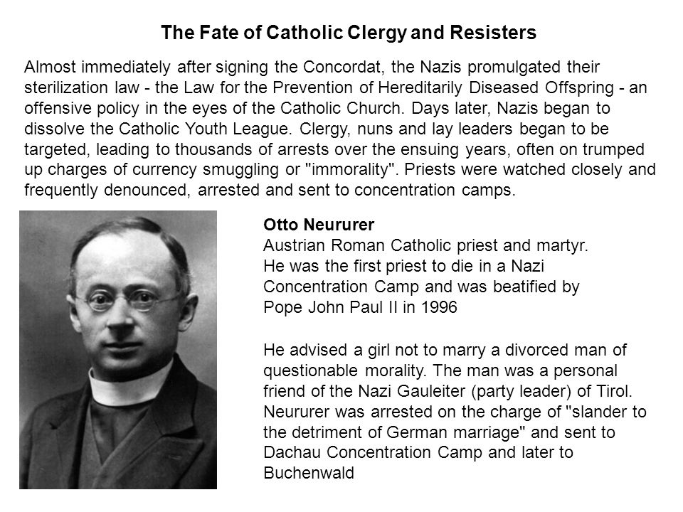 The Fate of Catholic Clergy and Resisters