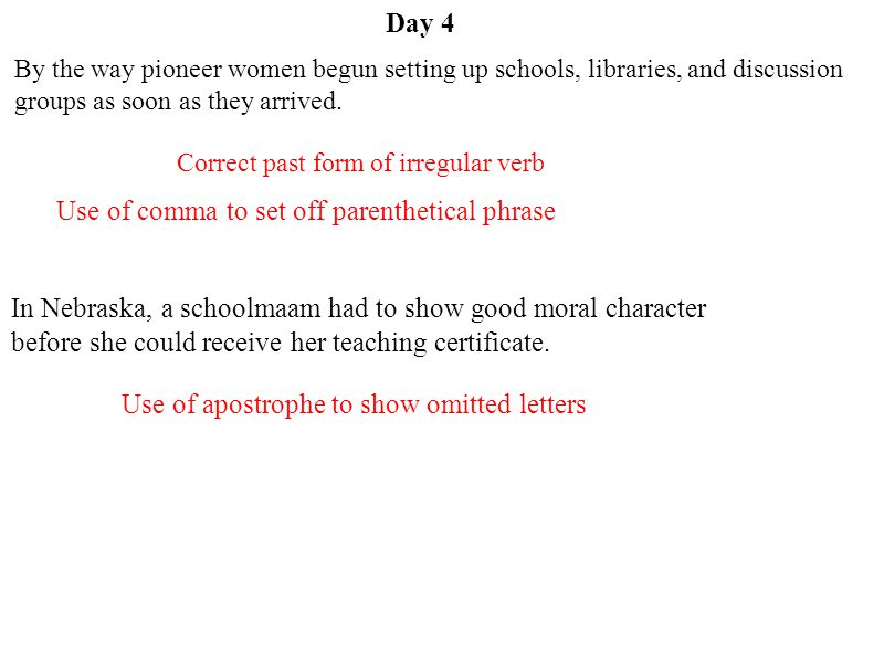 Use of comma to set off parenthetical phrase