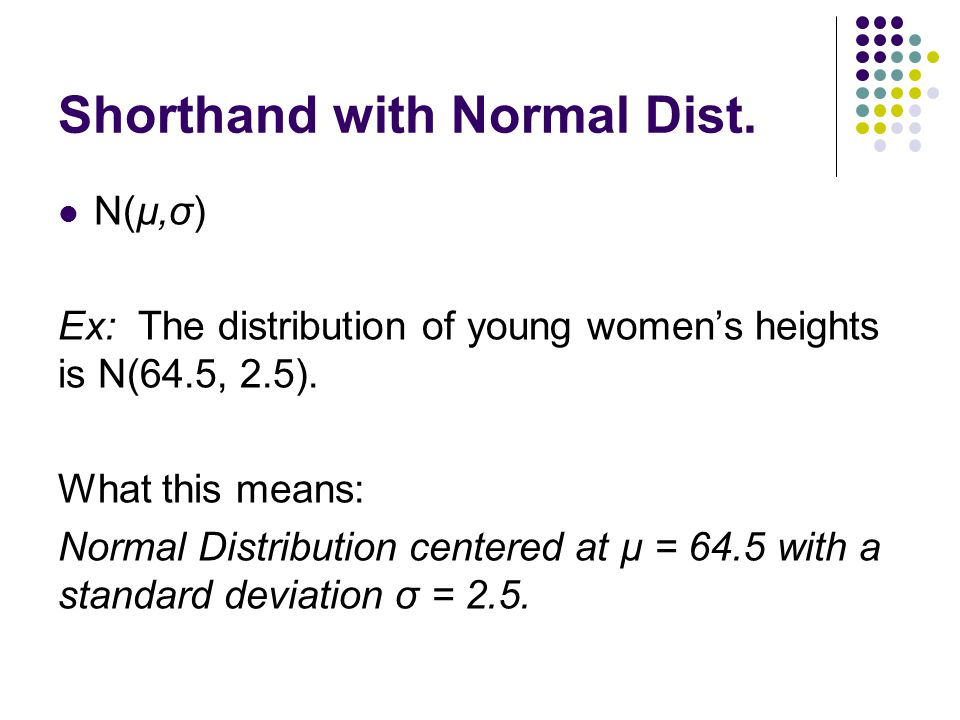 Shorthand with Normal Dist.