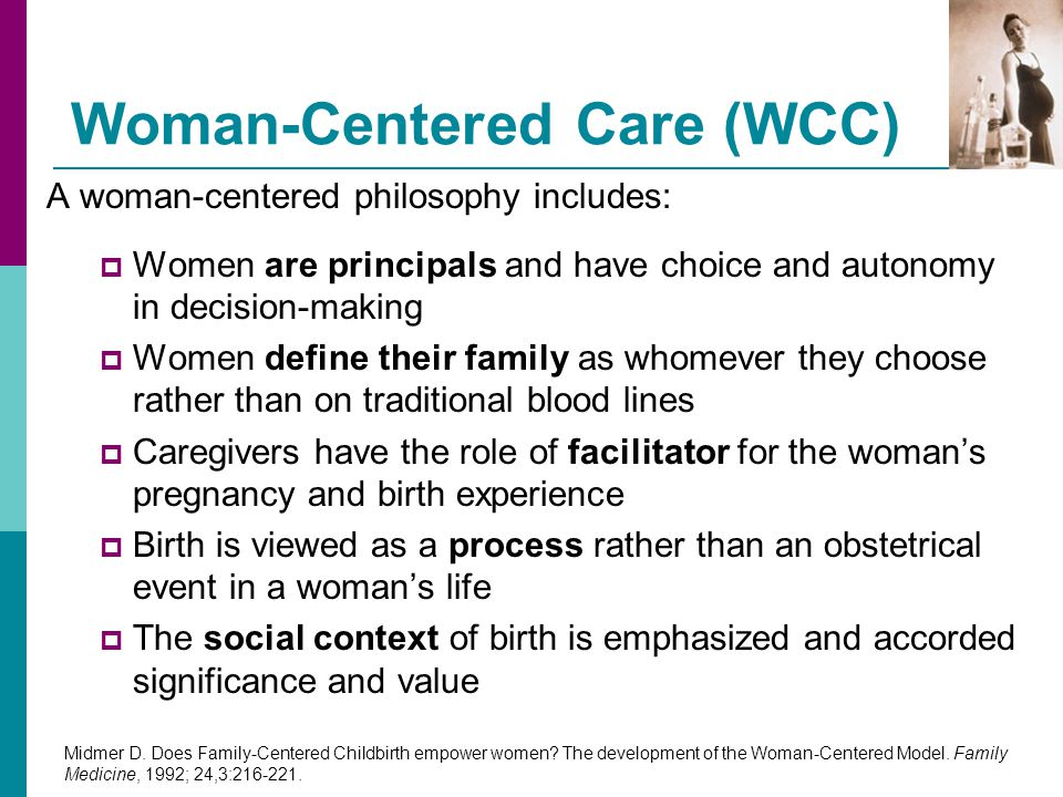 Woman-Centered Care (WCC)