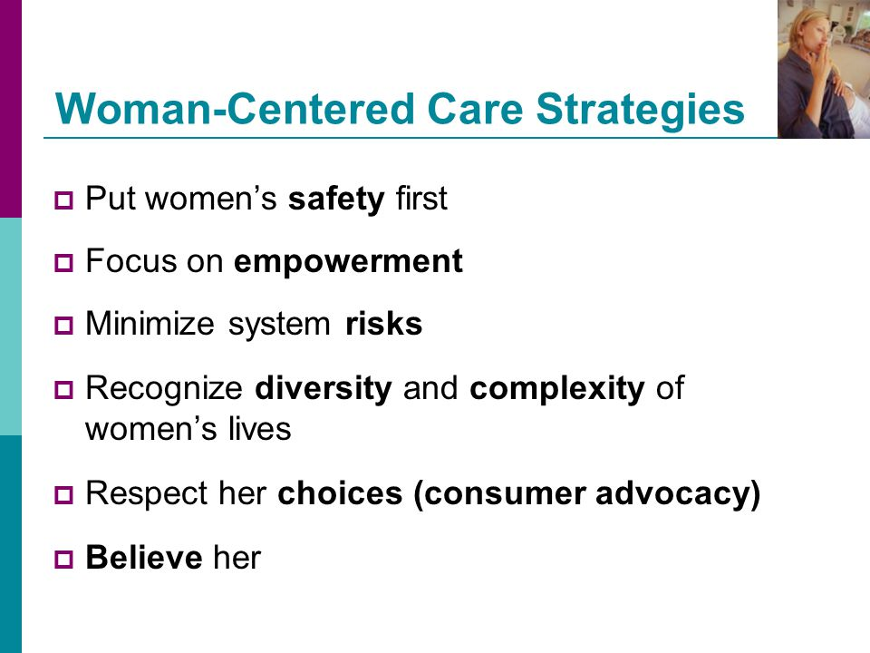 Woman-Centered Care Strategies