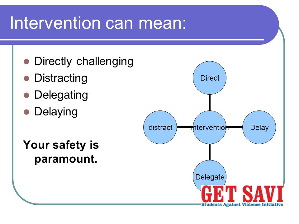 Intervention can mean: