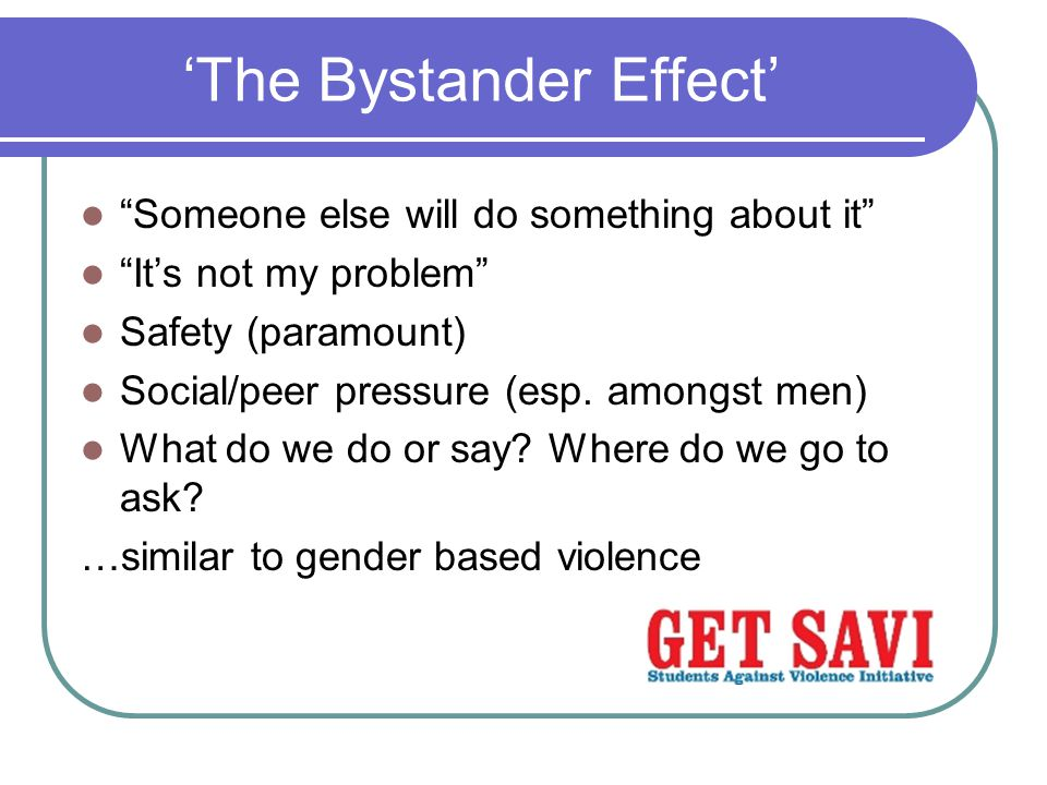 'The Bystander Effect'