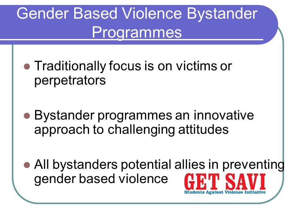 Gender Based Violence Bystander Programmes