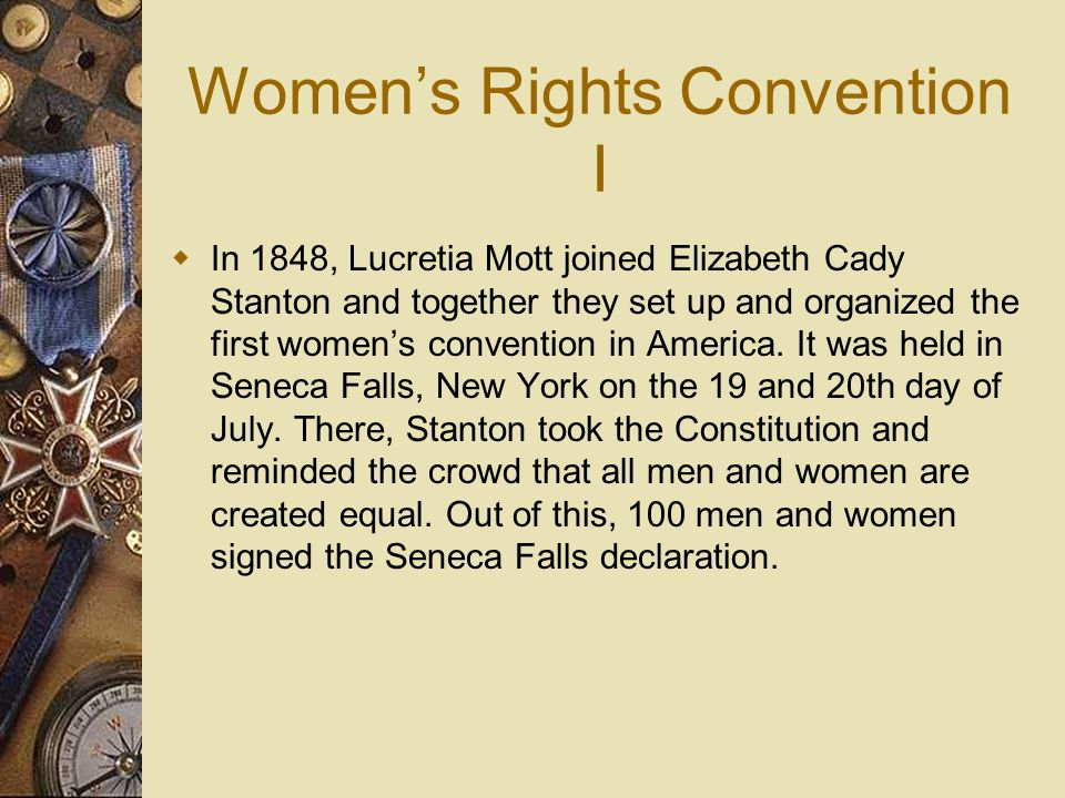 Women's Rights Convention I