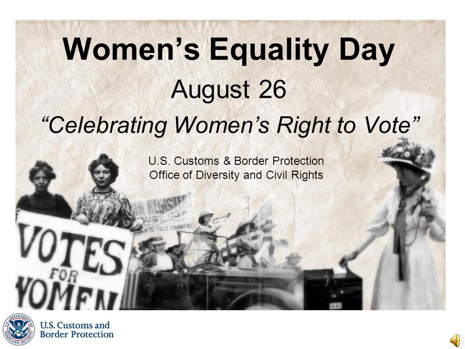 Women's Equality Day August 26 Celebrating Women's Right to Vote