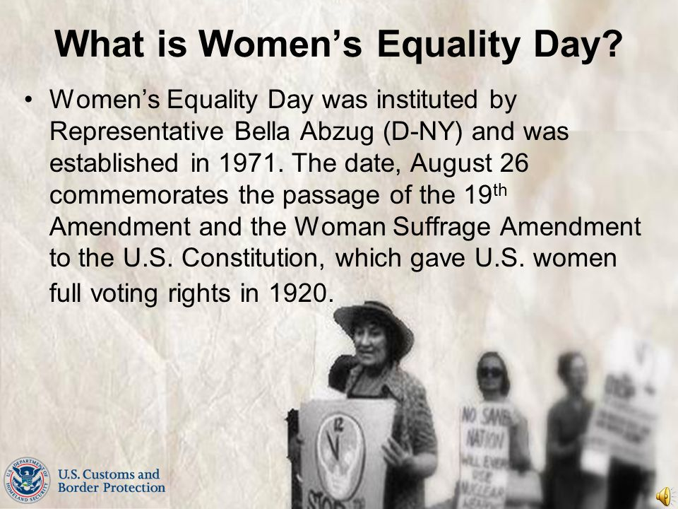 What is Women's Equality Day