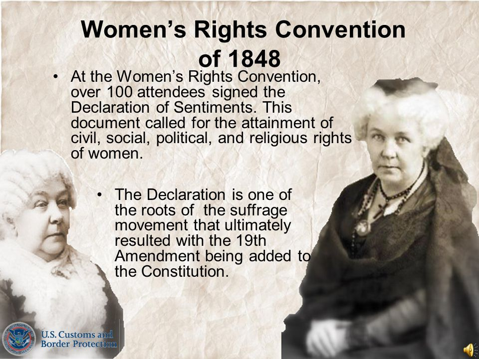 Women's Rights Convention of 1848