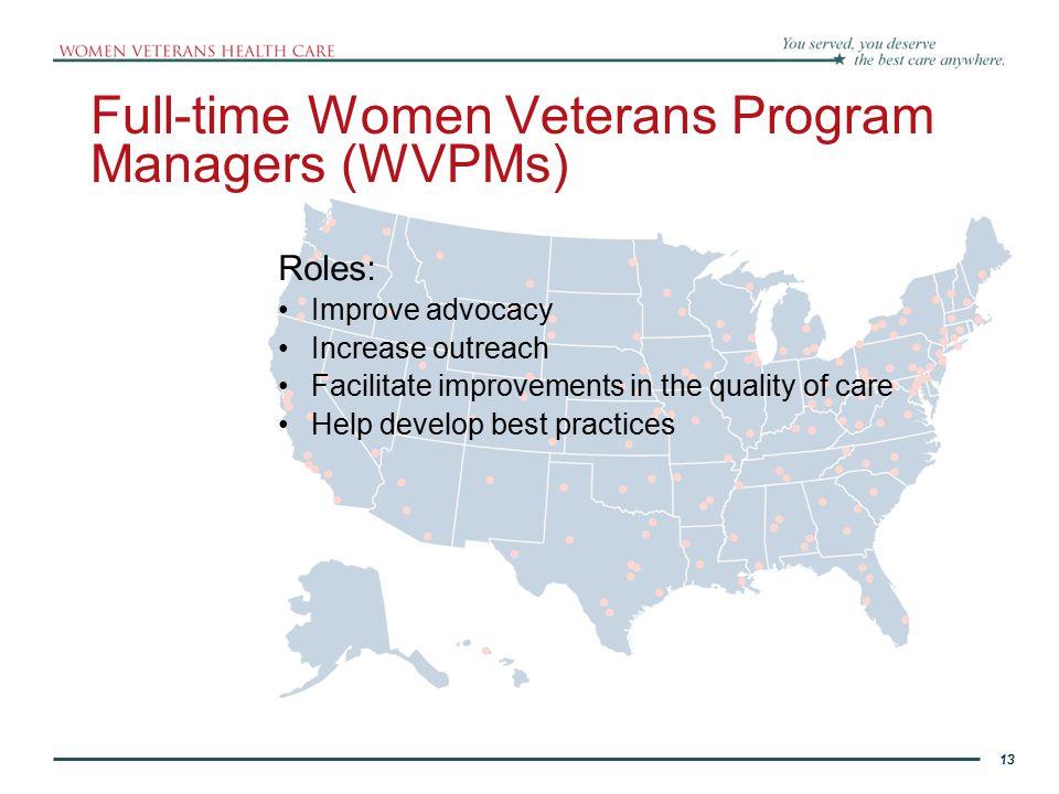 Full-time Women Veterans Program Managers (WVPMs)