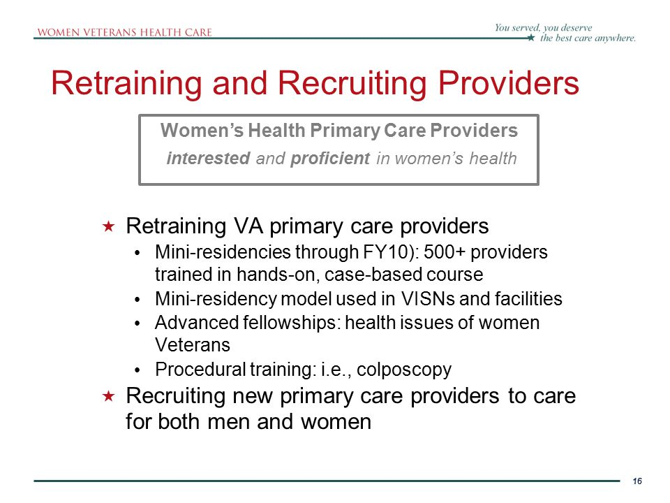 Retraining and Recruiting Providers