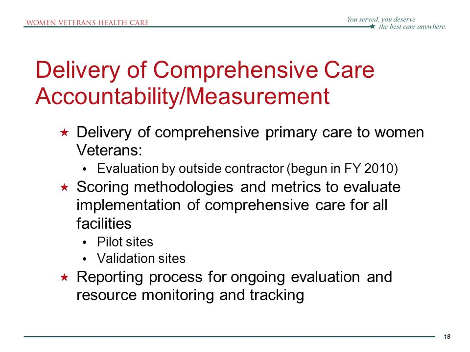 Delivery of Comprehensive Care Accountability/Measurement