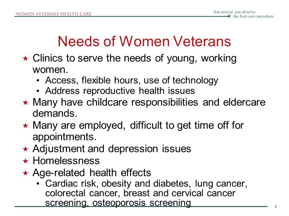 Needs of Women Veterans