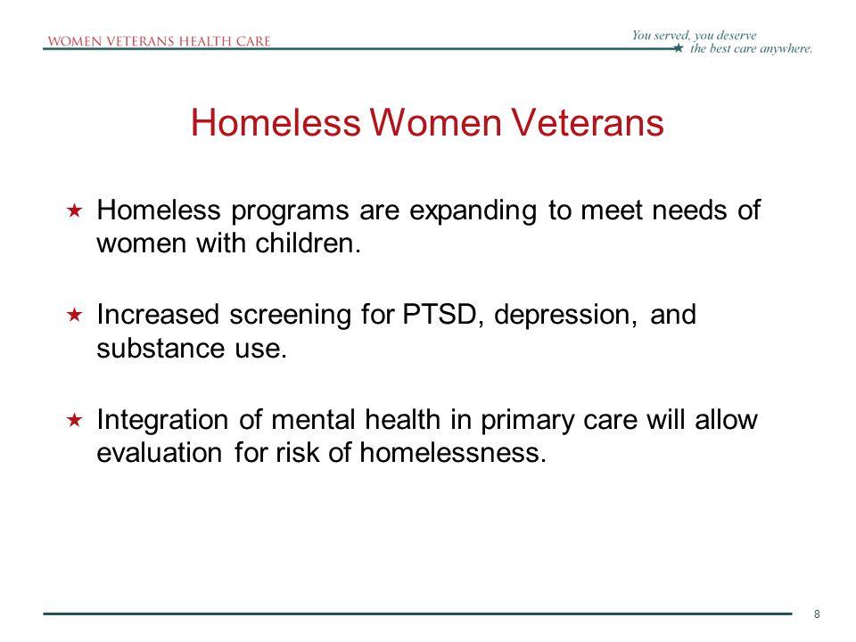 Homeless Women Veterans