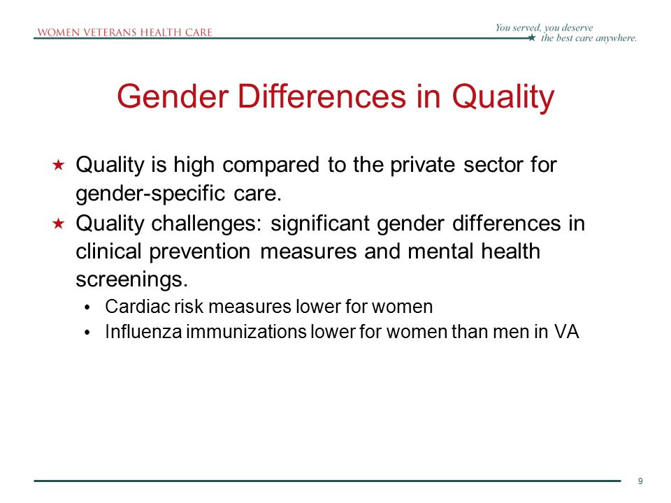 Gender Differences in Quality
