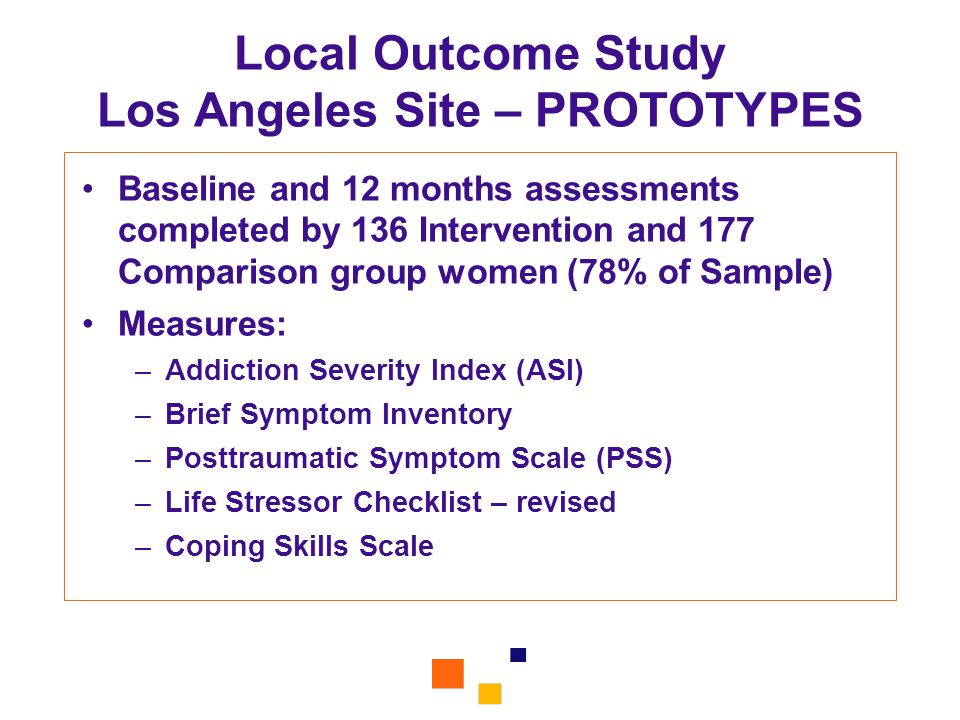 Local Outcome Study Los Angeles Site – PROTOTYPES