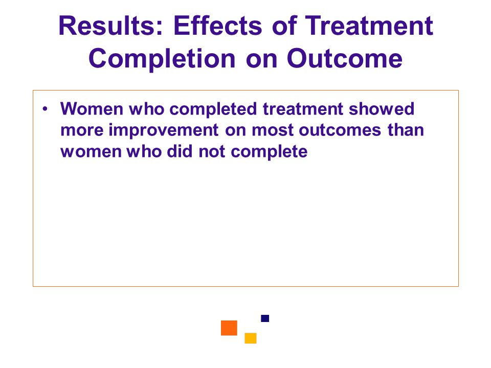 Results: Effects of Treatment Completion on Outcome