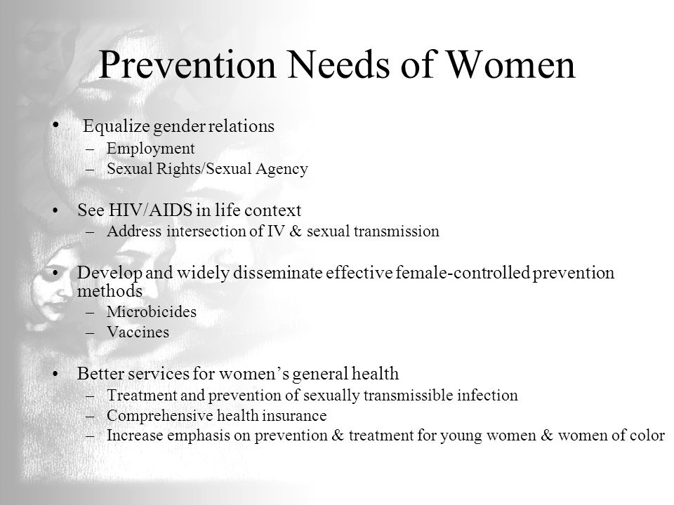 Prevention Needs of Women