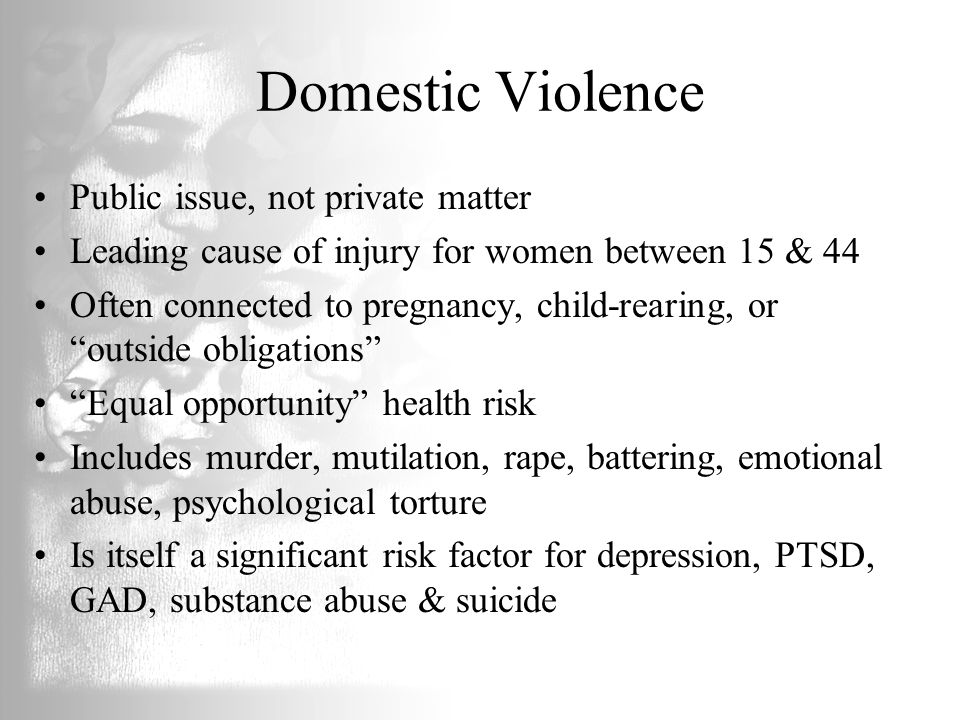 Domestic Violence Public issue, not private matter