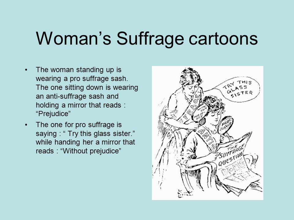 Woman's Suffrage cartoons