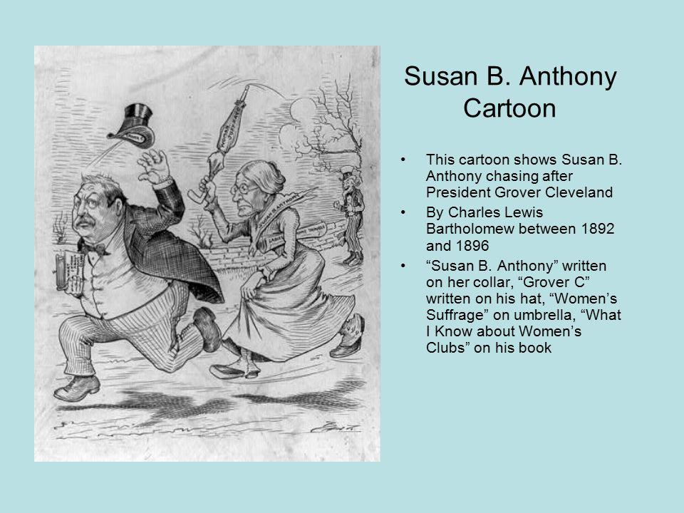 Susan B. Anthony Cartoon