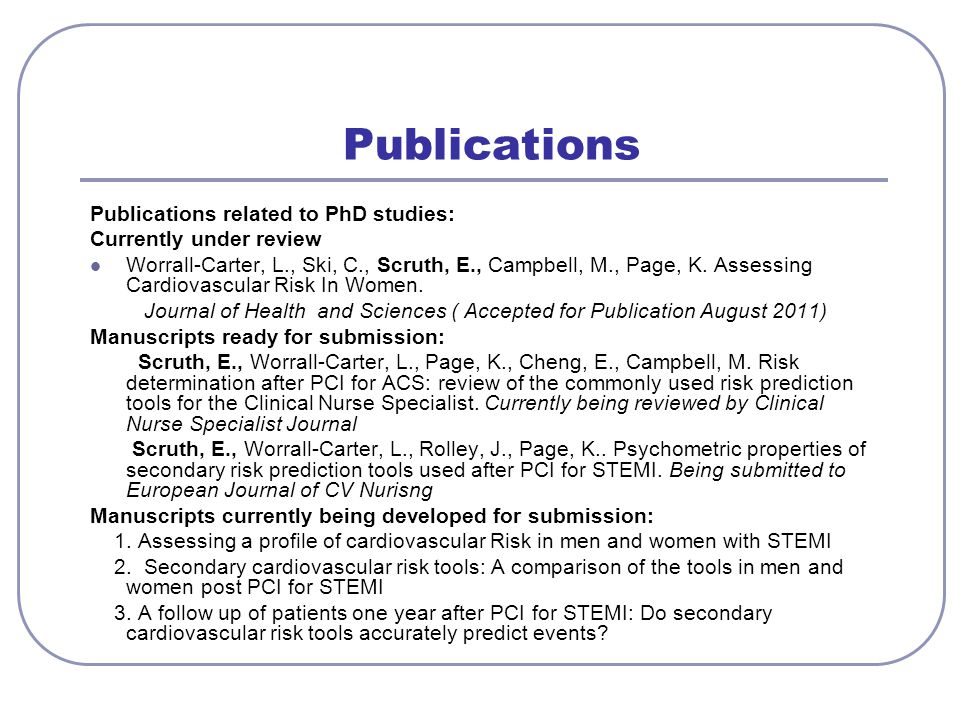 Publications Publications related to PhD studies: